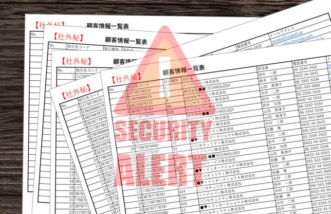 重要な情報が詰まった印刷物。不正持出しや紛失、盗難、などのリスクに晒されています。