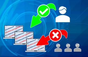 スクリーンウォーターマークは、ユーザー機能制限も完備。不正終了やスクリーンショットを防止します。