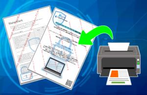 スクリーンウォーターマークのオプション、アウトプットウォーターマークを使用すれば、印刷物にもウォーターマークを表示、印刷履歴のログも記録できます。