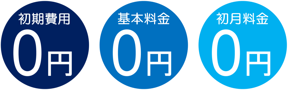 スクリーンウォーターマークは初期費用0円、基本料金0円、初月料金0円、機能と要件に合わせて選べる料金プランで安心